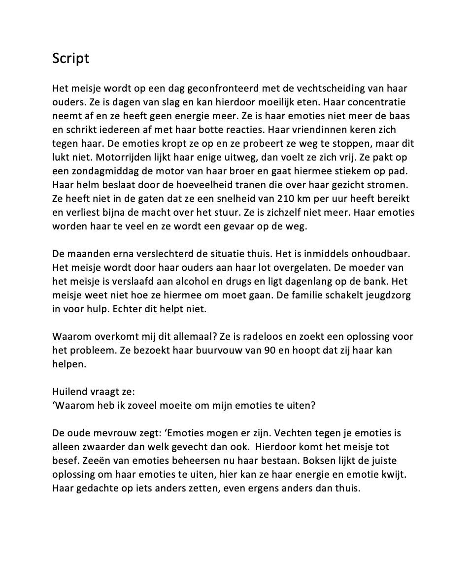 Celina Klarenbeek - script presenteer jezelf