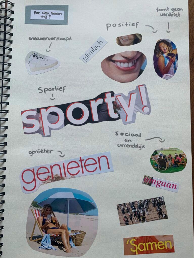 Celina Klarenbeek - project presenteer jezelf schets